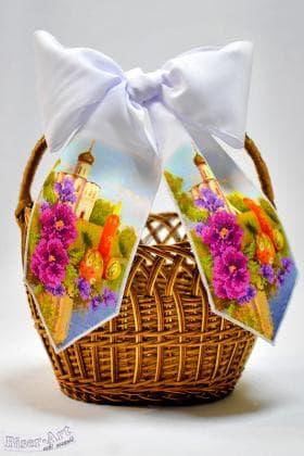 Бант на кошик Великодній 24001 Biser-Art