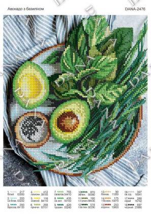 Авокадо з базиліком dana-2476 DANA
