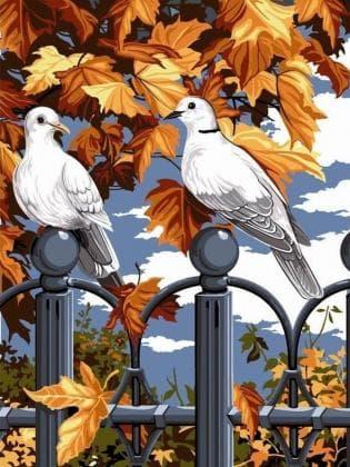 Пара голубів DM-253 Алмазна мозаїка