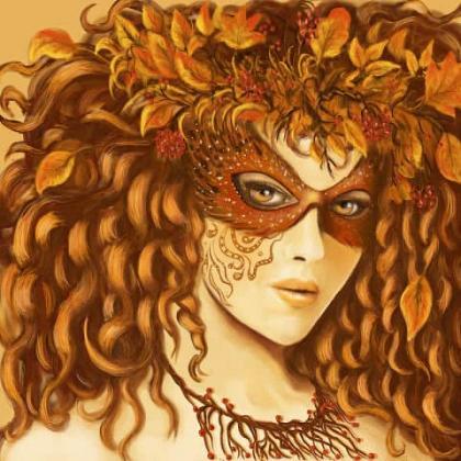 Дівчина осінь DM-254 Алмазна мозаїка