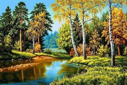 Осінь в лісі DM-258 Алмазна мозаїка