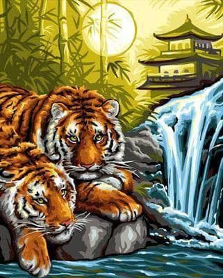 Тигри на відпочинку DM-285 Алмазна мозаїка