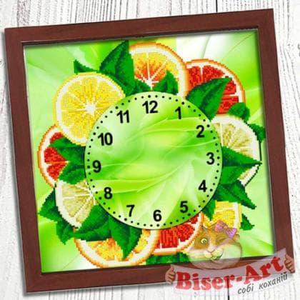 Годинник Грейпфрут  028 Biser-Art