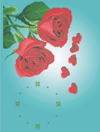 Годинник з трояндами 30-358 Бісерок