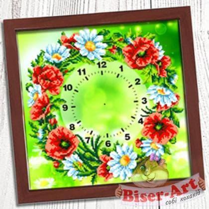 Годинник Польовий вінок 001 Biser-Art