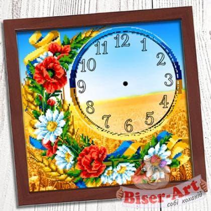 Годинник Українське поле 002 Biser-Art