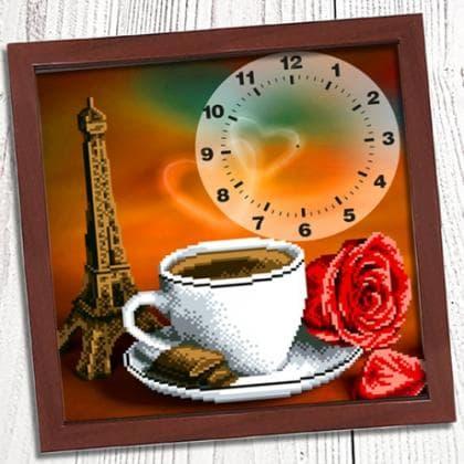 Годинник Ранкова кава в Парижі 009 Biser-Art