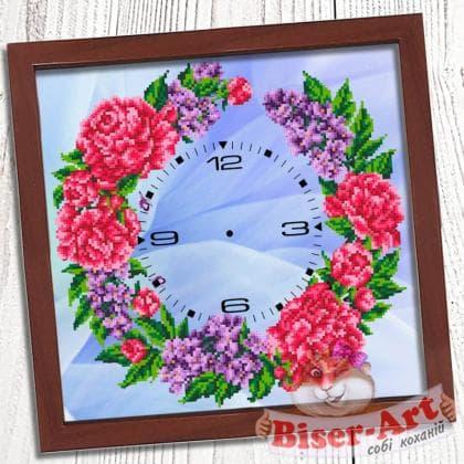 Годинник Півонії 017 Biser-Art