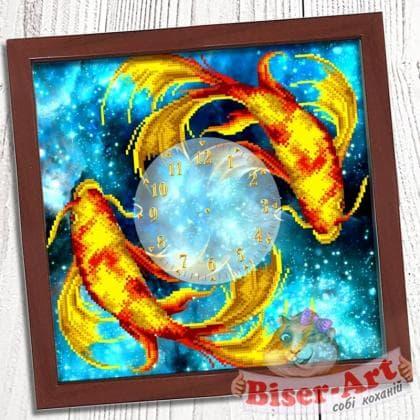 Годинник Золоті рибки 018 Biser-Art