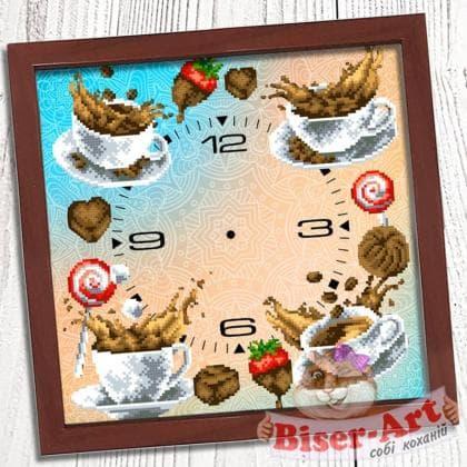Годинник Кавовий букет 019 Biser-Art