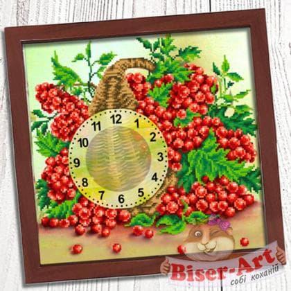 Годинник Кошик калини 027 Biser-Art