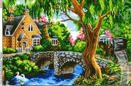 Пейзаж з мостиком 3031 Biser-Art