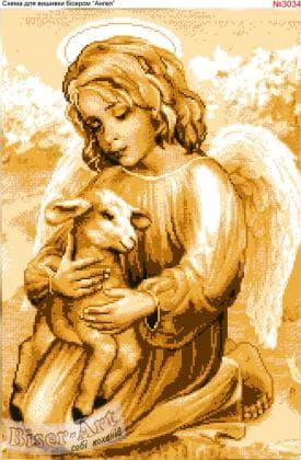 Ангелик з ягнятком 3034 Biser-Art
