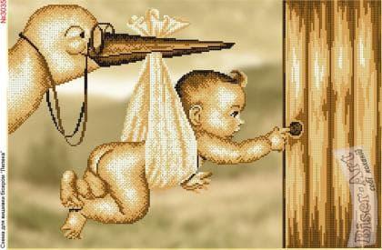 Лелека з малюком 3035 Biser-Art