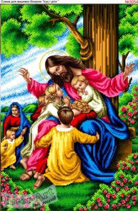 Ісус і діти 3054 Biser-Art