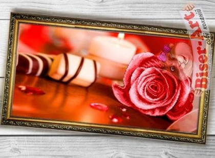 Рожева троянда 011 Biser-Art