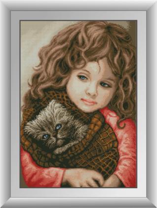 Дівчинка з кішкою