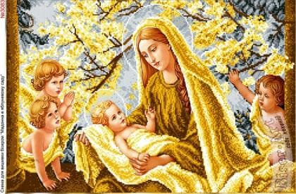 Мадонна в яблуневому саду 3083 Biser-Art