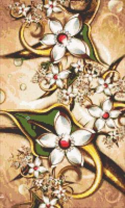 Вінтажні квіти DM-309 Алмазна мозаїка