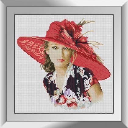Леді в червоному капелюшку