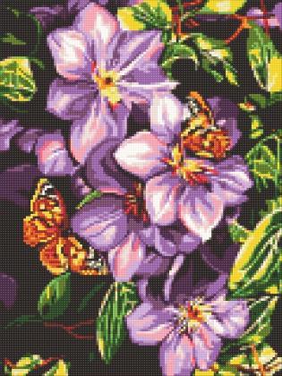Метелики на квітах DM-311 Алмазна мозаїка