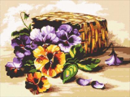 Букет віол DM-317 Алмазна мозаїка