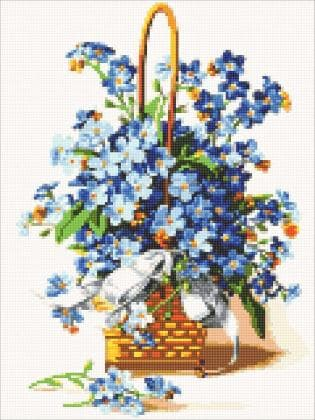 Незабудкі DM-320 Алмазна мозаїка