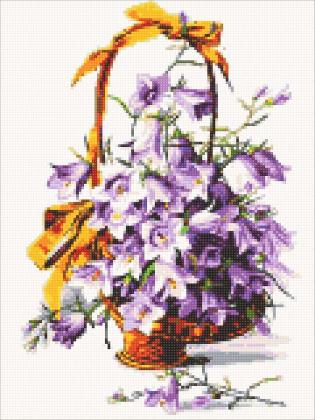 Фіолетові дзвіночки DM-321 Алмазна мозаїка