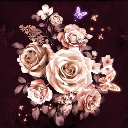 Троянди чайні DM-345 Алмазна мозаїка