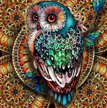 Яскрава сова DM-346 Алмазна мозаїка