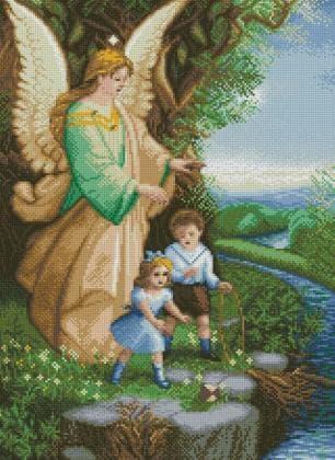 Ангел Охоронець DM-395 Алмазна мозаїка