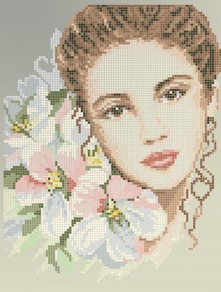 Панна з квітами 40-415 Бісерок