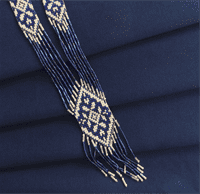 Домоткана кольорова Онікс темно-синій