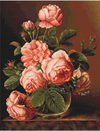 Ваза з трояндами В488 Luca S
