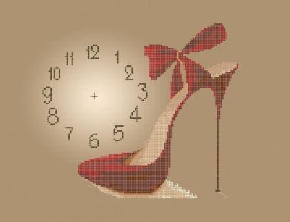 Годинник з туфелькою ЧВ-5095 Бісерок