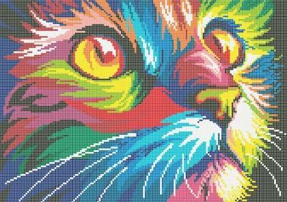 Кольоровий кіт ЧВ-5177 Бісерок