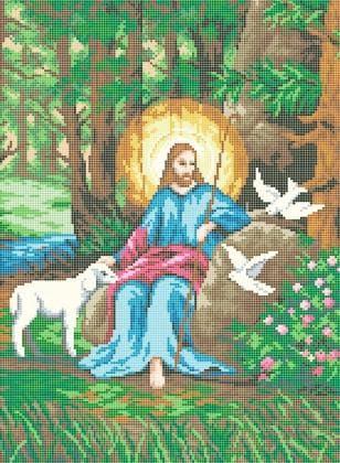 Ісус пастир ЧВ-5215 Бісерок