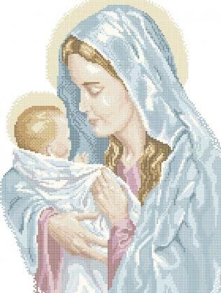 Мадонна з дитиною ЧВ-5226 Бісерок