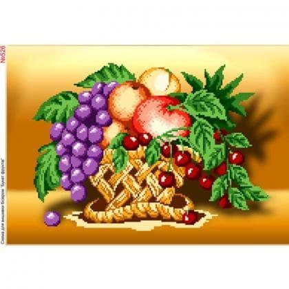 Кошик з фруктами 526 Biser-Art