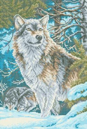 Вовк в лісі ЧВ-5321 Бісерок