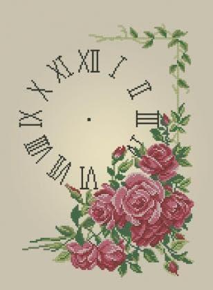 Годинник з трояндами ЧВ-5346 Бісерок