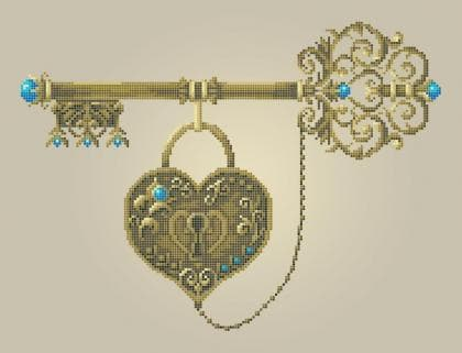 Ключ щастя ЧВ-5352 Бісерок