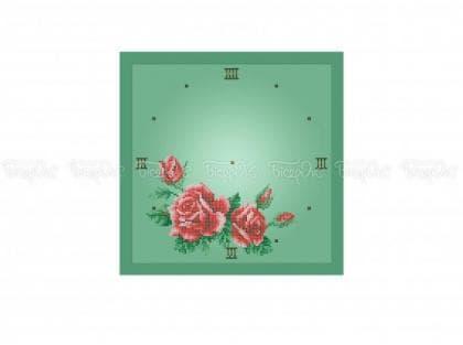 Годинник з трояндами ЧВ-5372 З Бісерок