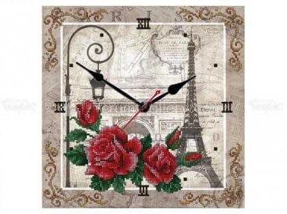 Годинник Париж-троянда ЧВ-5378 Бісерок