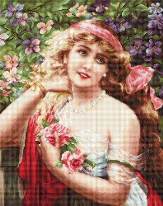 Дівчина з трояндами В549 Luca S