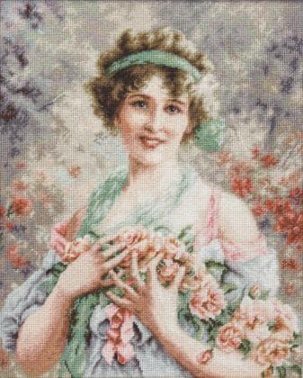 Дівчина з трояндами В553 Luca S