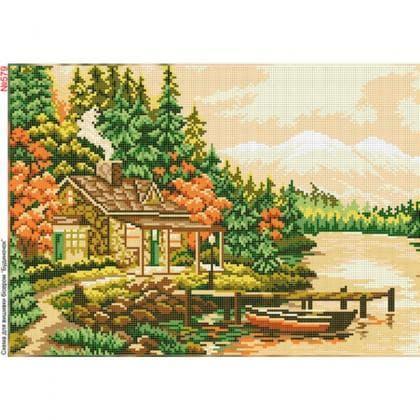 Будинок біля озера 579 Biser-Art
