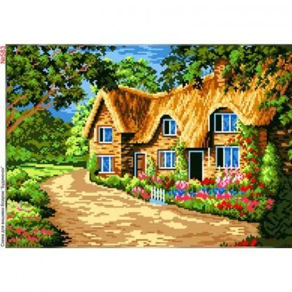 Будинок  з квітами 583 Biser-Art