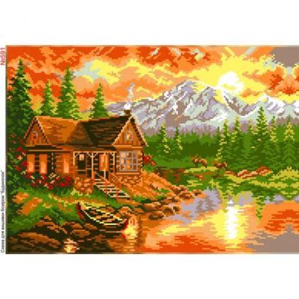 Будинок біля озера 591 Biser-Art