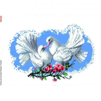 Пара голубів 639 Biser-Art